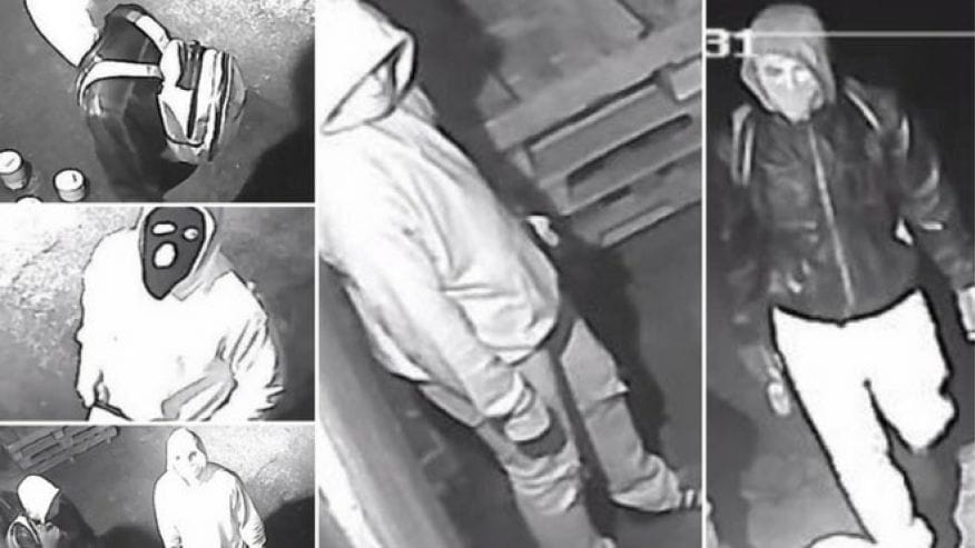 Surveillance footage shows three suspects outside Relic Hunters in Whitehall, PA (Photo: ATF/Fox News)