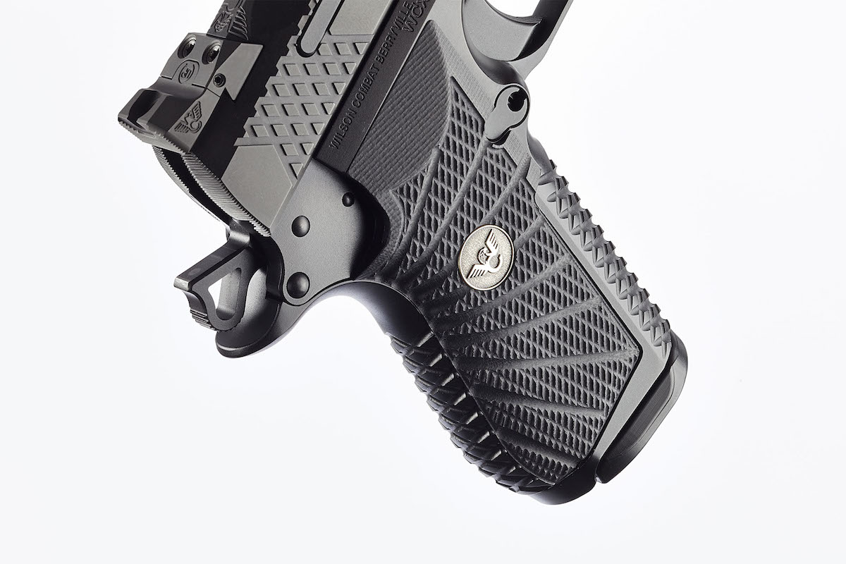 The interchangeable grip can be swapped out for a small or large backstrap. (Photo: Wilson Combat)