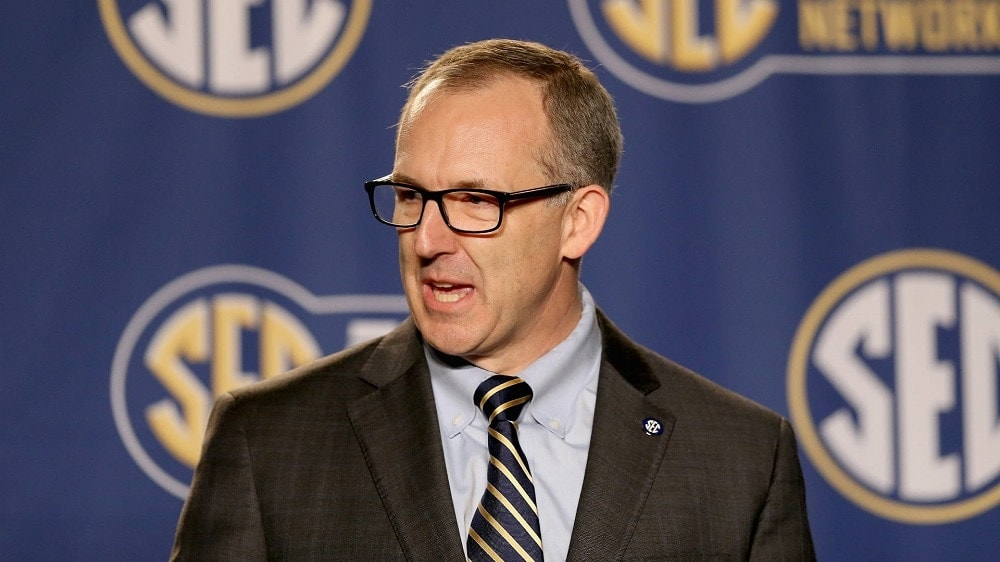 SEC Commissioner Greg Sankey has voiced opposition to allowing guns in college sports venues (Photo: Getty Images)