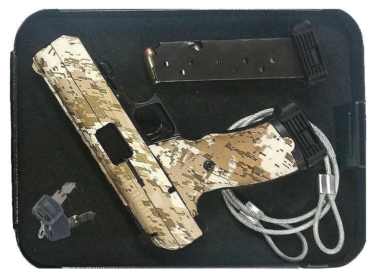The Hi-Point Security Pack comes with a handgun, lockbox, keys and securing cable. (Photo: Hi-Point)