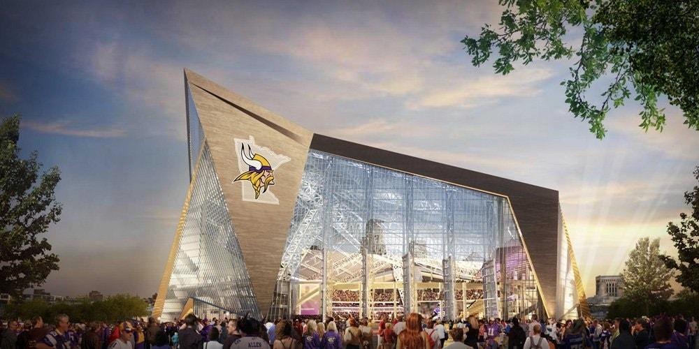 The Minnesota Vikings have voiced concerns over a proposal that would let off-duty cops carry guns into private venues (Photo: Minnesota Vikings)