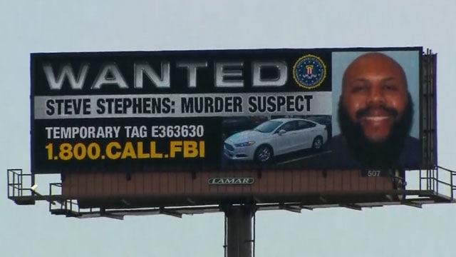 Facebook killer wanted billboard