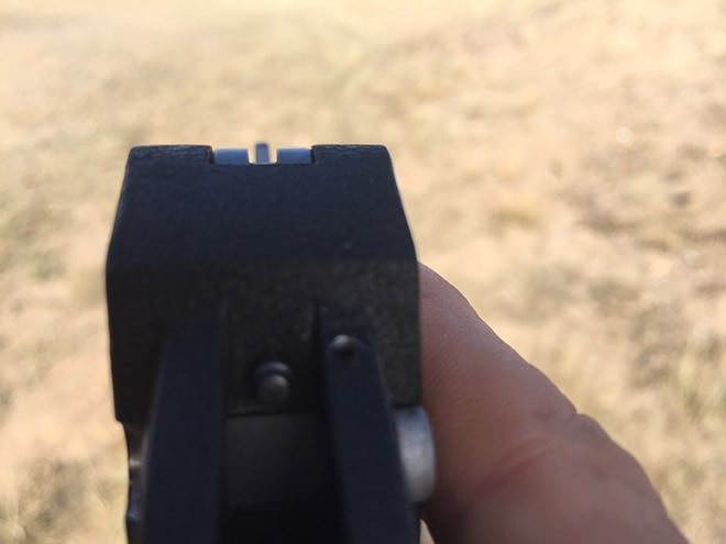 A_low-profile_rear_sight_is_easy_to_conceal_but_not_quick_to_acquire_visually.