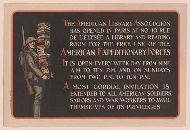 American Library Association poster. Burton Egbert Stevenson Papers. (Photo: Library of Congress)