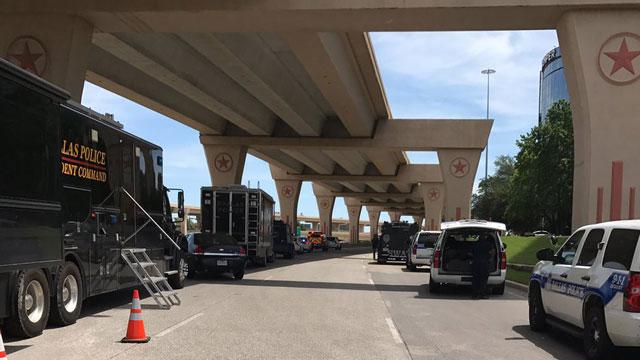 Dallas shooting scene photo