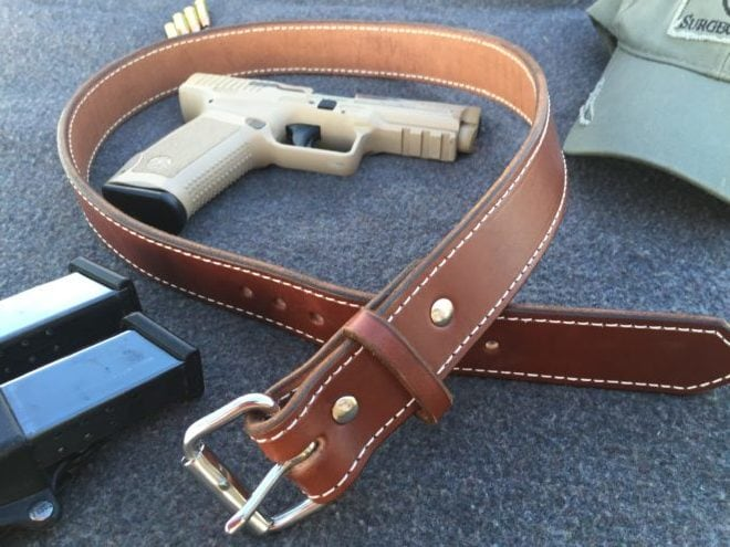 Exos Gear gun belt. (Photo: Team HB)