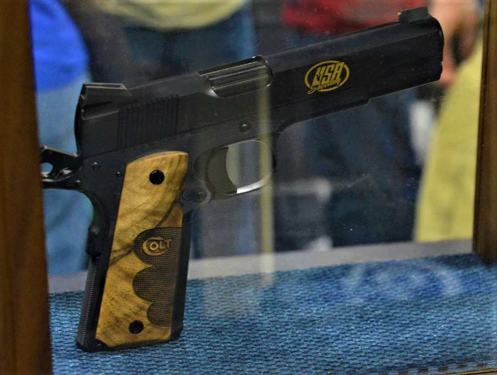 Colt also had a special edition Team USA 1911 on display