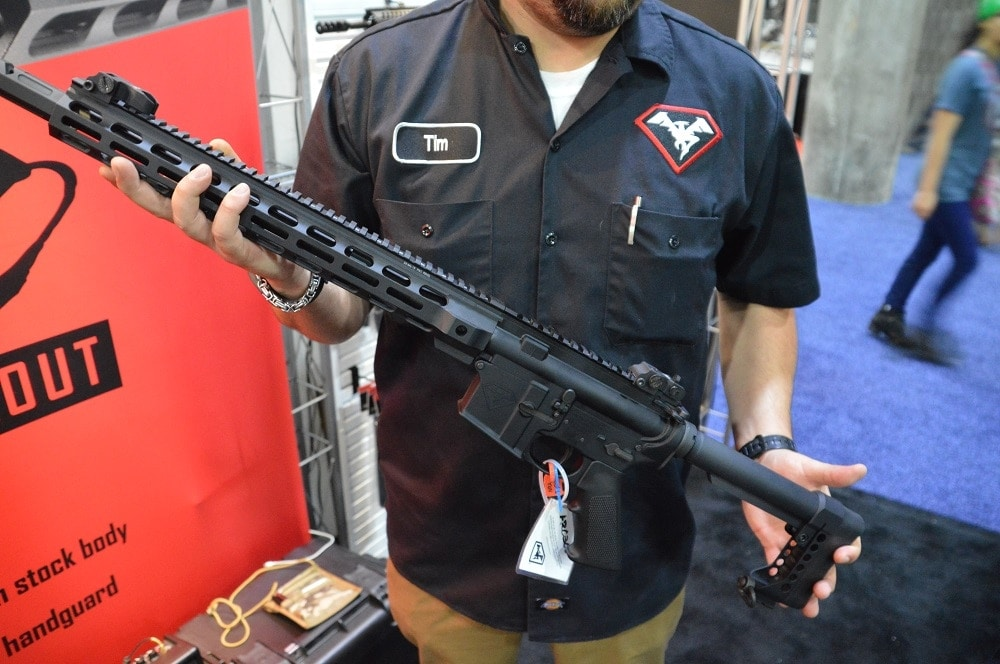 DoubleStar's .300 BLK AR is only 34.75-inches long and tips the scales at 6.7-pounds, unloaded (Photos: Chris Eger/Guns.com)
