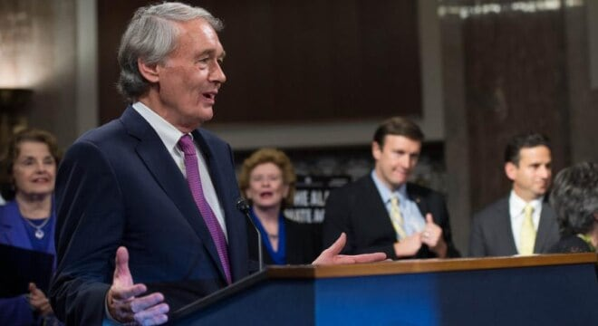 """No one should be afraid of more non-partisan, scientific research into this vital issue – not Republicans, not the NRA and not President Trump,"" said Sen. Markey. (Photo: Markey.Senate)"