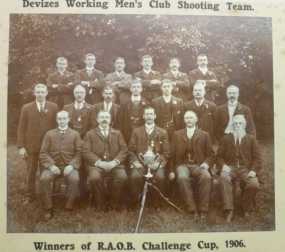 The Devizes Working Men's Club Shooting Team swept their league in 1906 with a trio of Colt .22s. (Photos: Adrian W.)