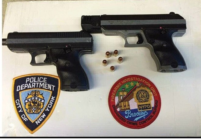 Feb. 29, 2016: Black allegedly sold two Hi-Point pistols for $1,500.