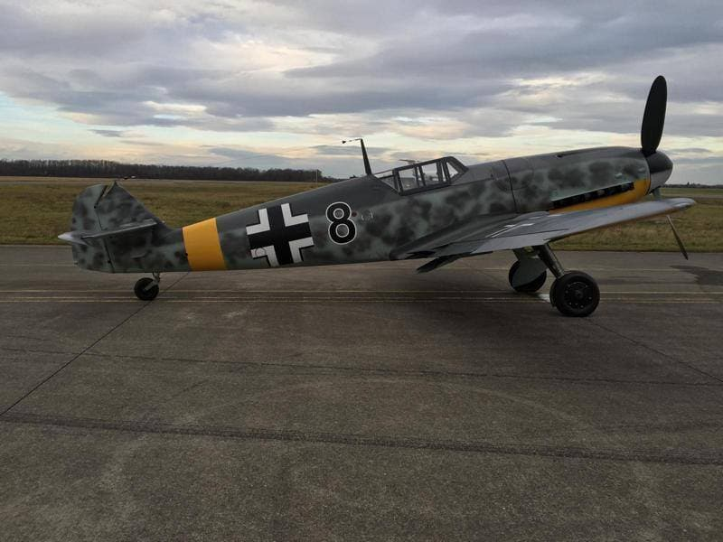This 1944-era Messerschmitt Bf-109 was one of over 30,000 made during WWII but is now incredibly rare in any condition. (Photos: Platinum Fighters)