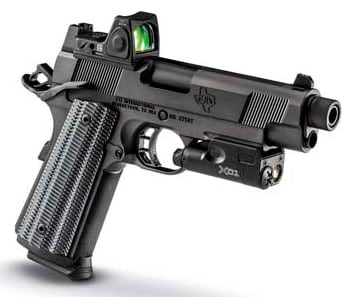 The H.O.S.T. features tall sights to accommodate a mounted suppressor. (Photo: STI)
