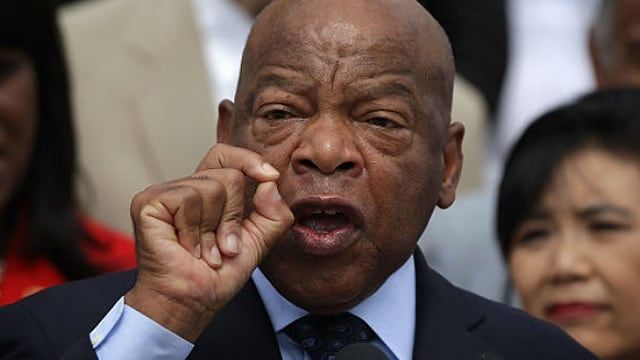 U.S. Rep. John Lewis will protest alongside gun control groups Saturday against the NRA. (Photo: Getty)