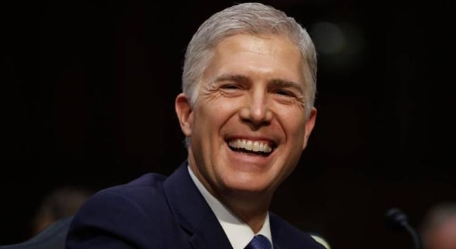 Supreme Court Justice nominee Neil Gorsuch smiles on Capitol Hill in Washington, March 20 (Photo: CSPAN)