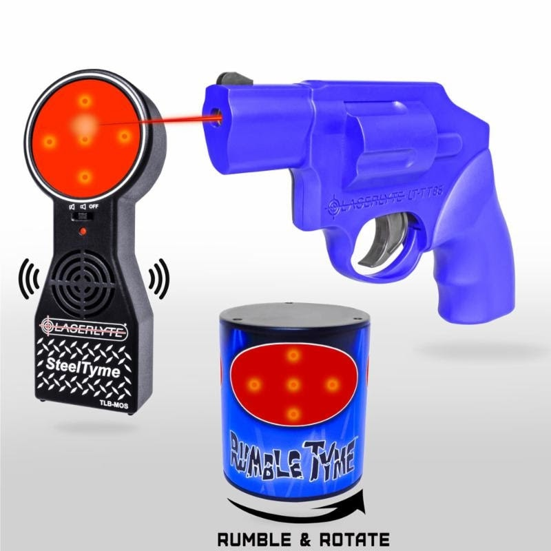 The Rumble & Steel kit pairs reactive targets with LaserLyte's laser j-frame styled revolver. (Photo: LaserLyte)