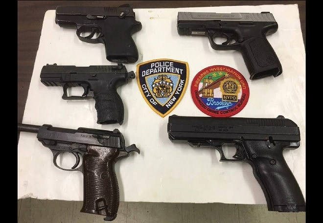 When taken into custody last week, a search of Black's Kia turned up two .40 caliber S&W firearms, a Walther P-38, a .45 caliber Hi-Point and a Walther .22.