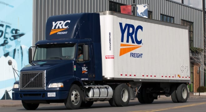 The pair allegedly stole 45 Smith & Wesson firearms on March 13-14 from YRC Freight by filling up bags with forklifts and then driving the forklifts to the employee parking lot. (Photo: YRC)