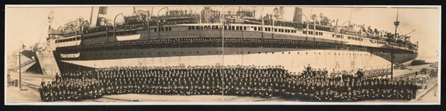 Officers and crew, U.S.S. Mount Vernon