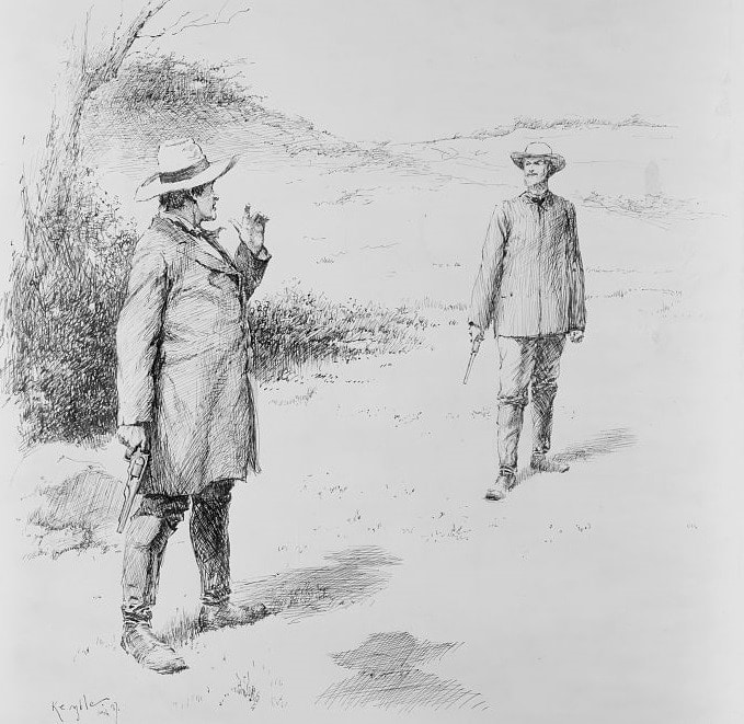 """""""The Duel"""" by E.W. Kemble, 1887 (Photo: Library of Congress)"""
