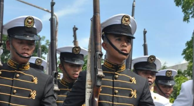 Thousands of surplus M1s were loaned to U.S. allies in Europe and Asia in the mid-20th Century and the guns remain in limited use by the Phillipine military (Photo: Philippine Merchant Marine Academy)