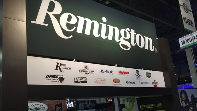A Remington sign at SHOT Show in January 2017. (Photo: Daniel Terrill/Guns.com)