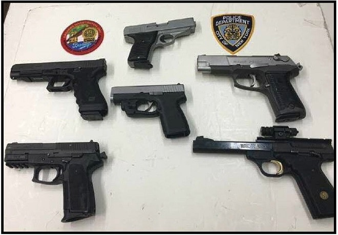 Sept. 26, 2016: Black allegedly sold a 9mm Kahr, .380 Cobray, .22 caliber Browning, .40 caliber Glock, 9mm Sig and a .45 caliber Ruger along with some magazines and ammo for $5,000.