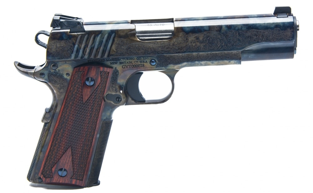The 1911 features engraving on the frame and slide. (Photo: Standard Manufacturing)