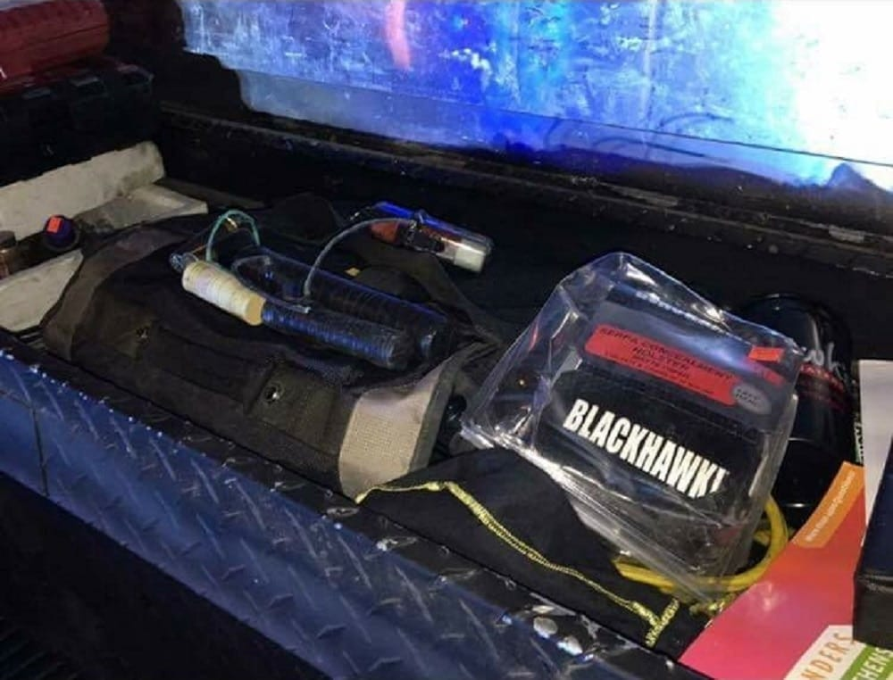 Authorities believe the explosive devices found in Joshua Ward's truck were packed with flash powder. (Photo: AL.com)