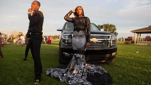 black lives matter prom dress