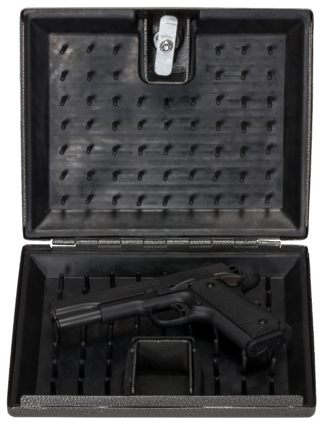 The Pistol Vault Portable features an interior design aimed at keeping valuables in place while on the go. (Photo: Browning)