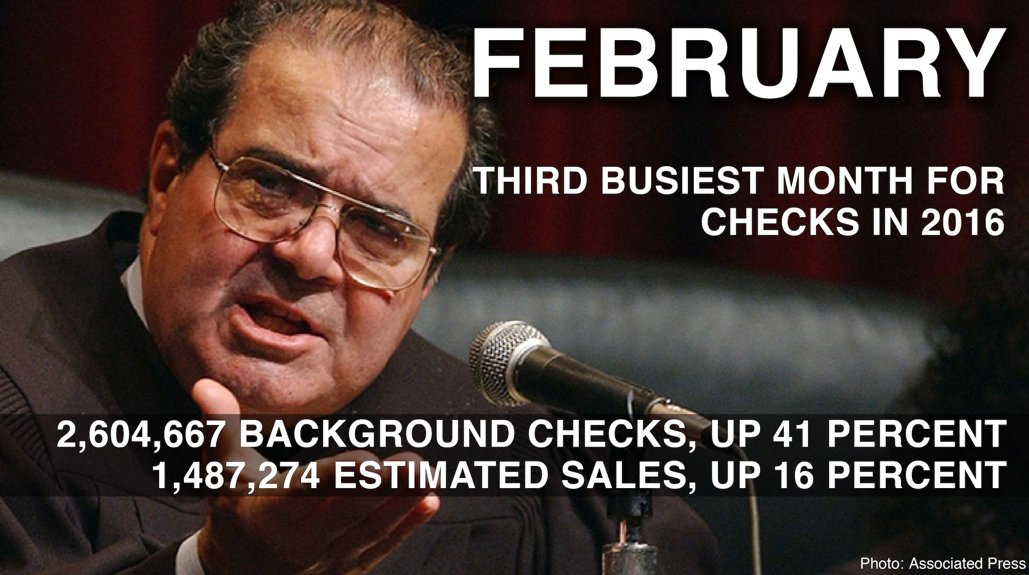 february 2016 background check stats