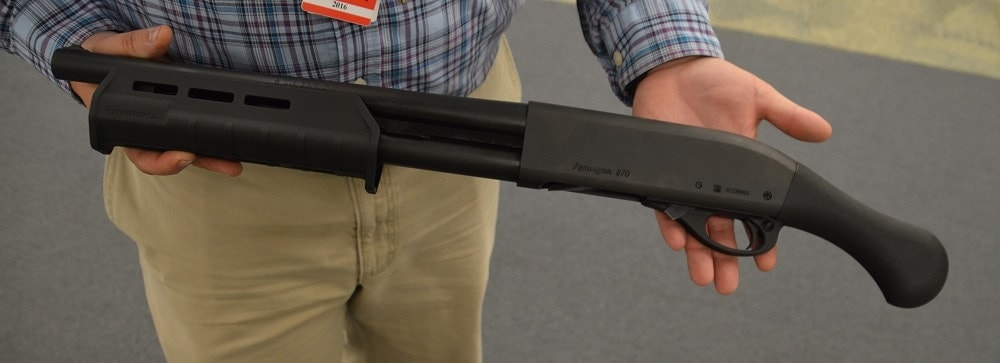 The Tac-14 firearm has 870 lineage but gives the end-user a 14-inch barrel without NFA hoops to jump through (Photo: Chris Eger/Guns.com)