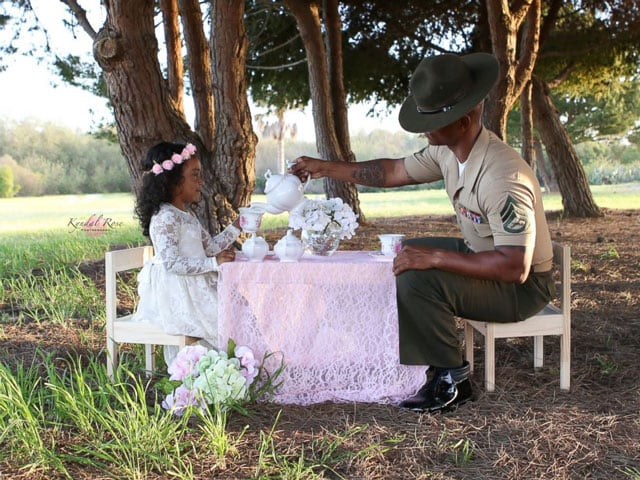 drill instructor tea party