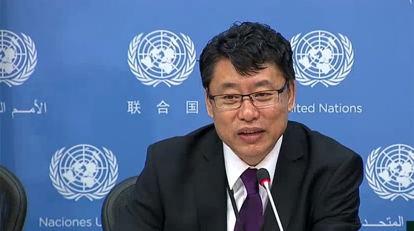 Kim In Ryong, North Korea's deputy ambassador to the United Nations