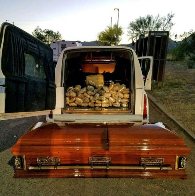 hearse with pot