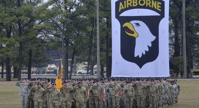 Army officials on May 3 announced the Fort Campbell, Ky-based 101st Airborne will be the first to use the new Sig Sauer handguns (Photo: Sam Shore/U.S. Army)