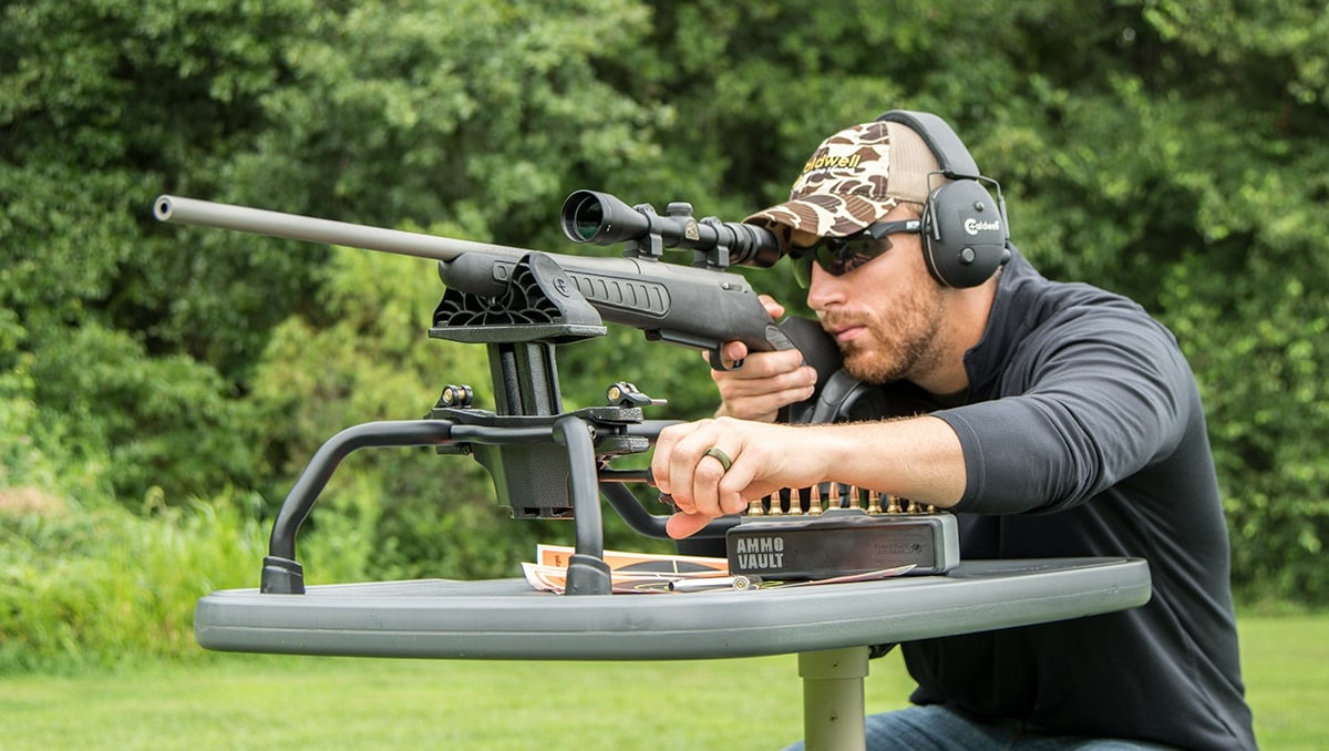 The Stinger Shooting Rest allows for one handed elevation adjustments. (Photo: Caldwell Shooting Supplies)