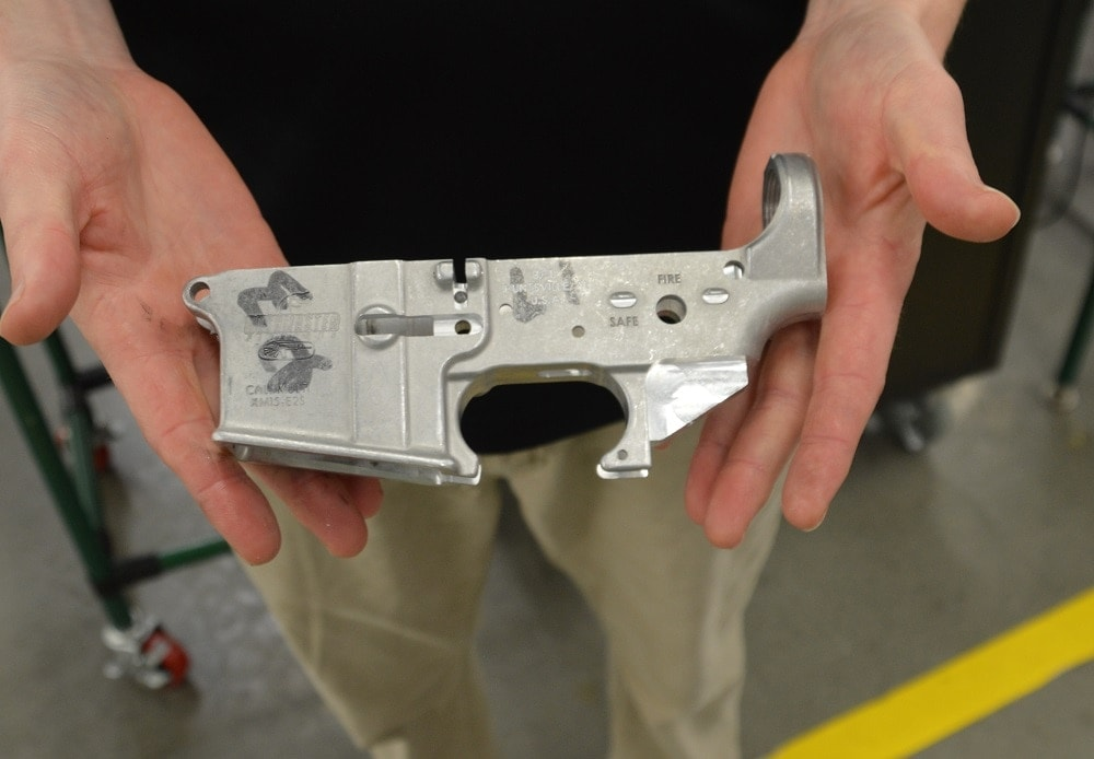 """A Bushmaster lower """"in the white"""""""