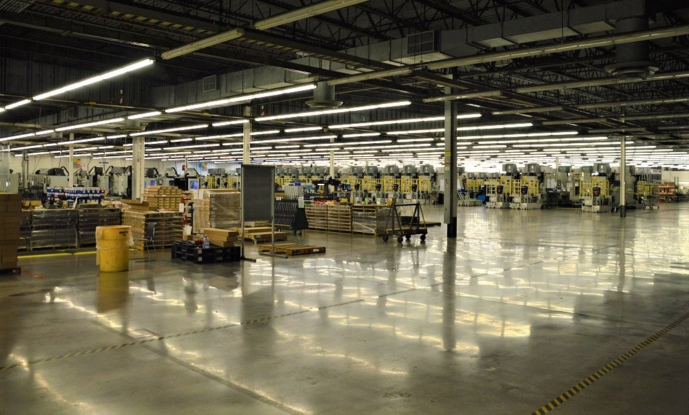 And the 500,000 sq. ft. facility still has lots of open room to expand into further lines