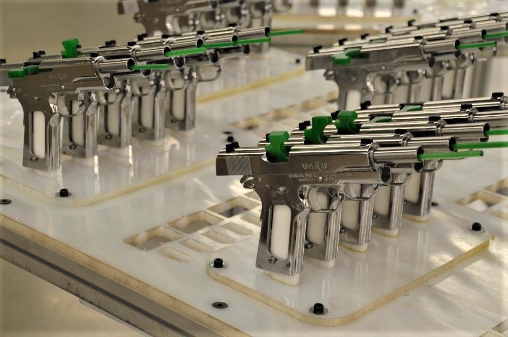 Remington R1s with Huntsville rollmarks await final assembly (Photos: Chris Eger/Guns.com)
