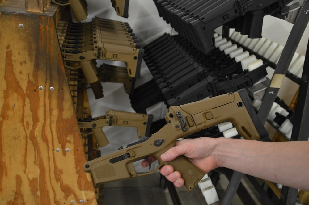 Bushmaster ACR lowers awaiting assembly