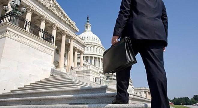 A lobbyist at the Capitol building. (Photo: Melanie Stetson Freeman/CS Monitor)
