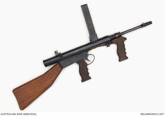 Experimental 9mm Mk1 Owen Sub-machine Gun, Fifth Model