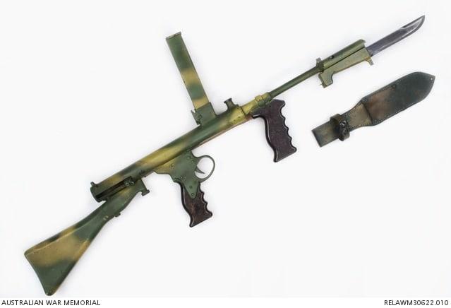 Experimental Owen Mk II Sub-machine Gun