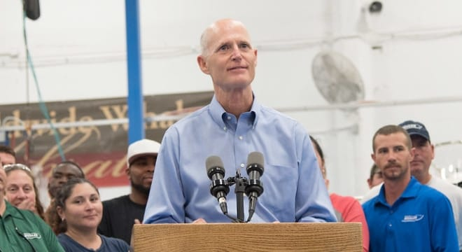 "Republican Gov. Rick Scott is expected to sign a bill requiring prosecutors to provide ""clear and convincing"" evidence to move forward to trial in stand your ground cases. (FLGovScott)"