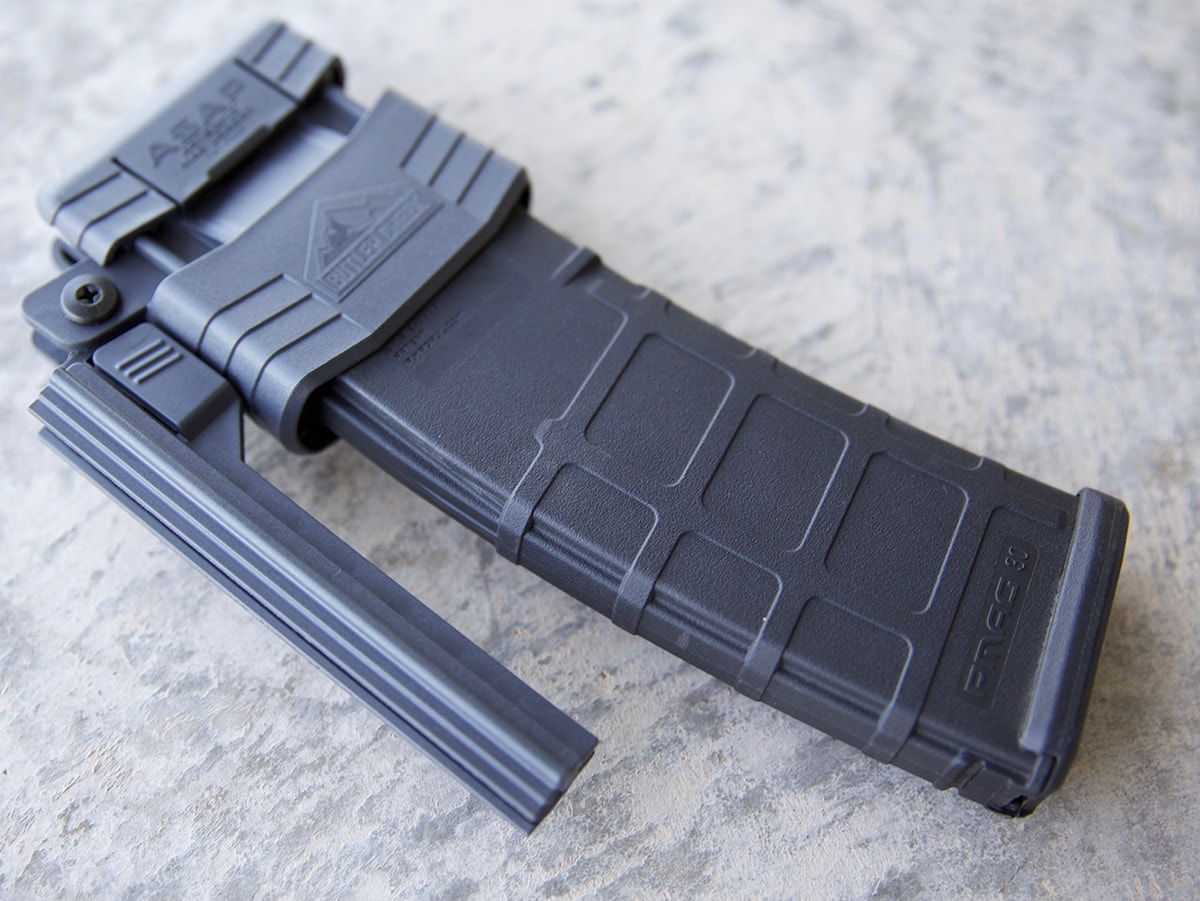 The ASAP AR-15 magazine loader in one of four total options offered by Butler Creek. (Photo: Jacki Billings)