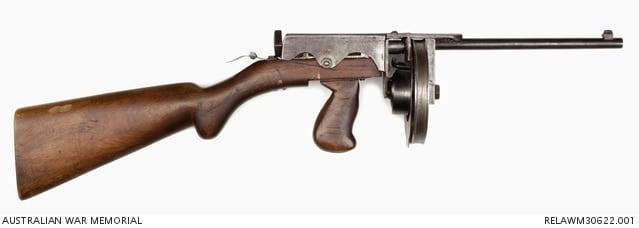 Owen's 44 round 22 caliber Owen Sub-machine Gun .22 Prototype