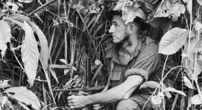 The Owen, shown above in the hands of an Australian soldier in 1943 Papua New Guinea, was all Australian (Photos: Australian War Memorial)