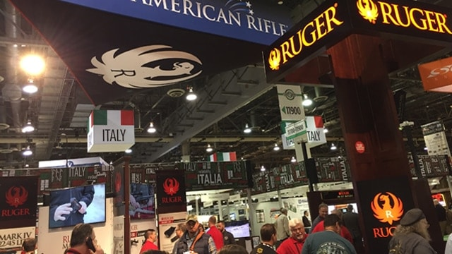 The Ruger booth at SHOT Show 2017 in Las Vegas. (Photo: Daniel Terrill/Guns.com)